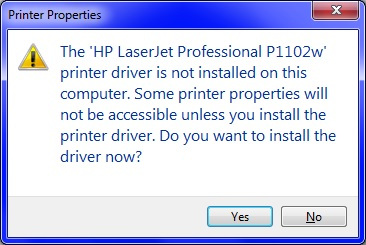 Solved: HP Laserjet P1102W - Unable to install on Windows 7 64-bit