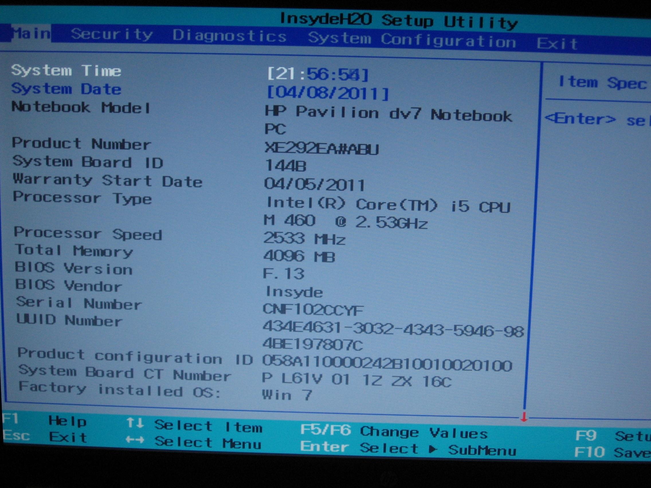 Hp notebook system bios update - My Bios