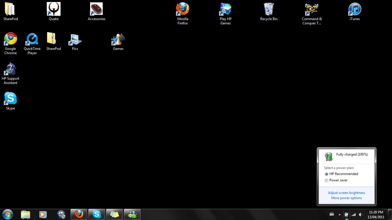 Windows 7 desktop wallpaper does not change