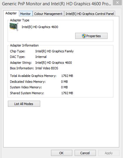 0 MB dedicated video memory (HP ENVY 17-j100se) - HP Support