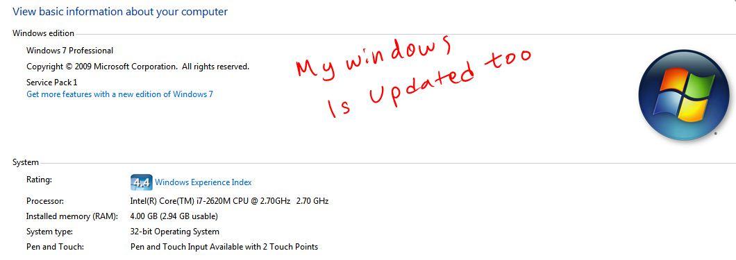 HP EliteBook 2760p Pen Pressure NOT WORKING with Photoshop