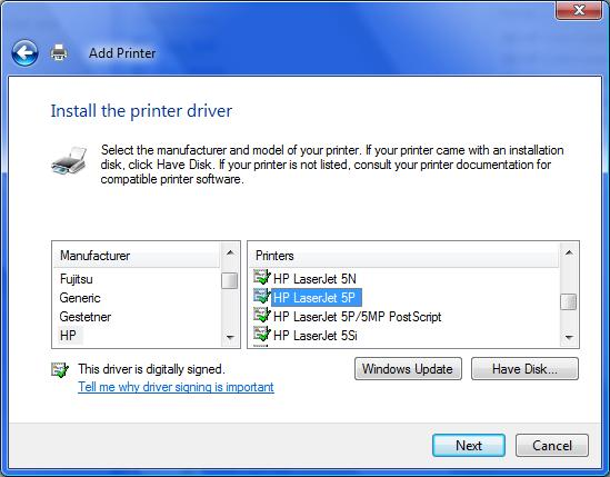 How to install hp laserjet 1160 printer driver for windows 7 64.