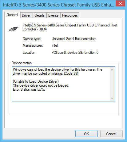 windows 8.1 code 39