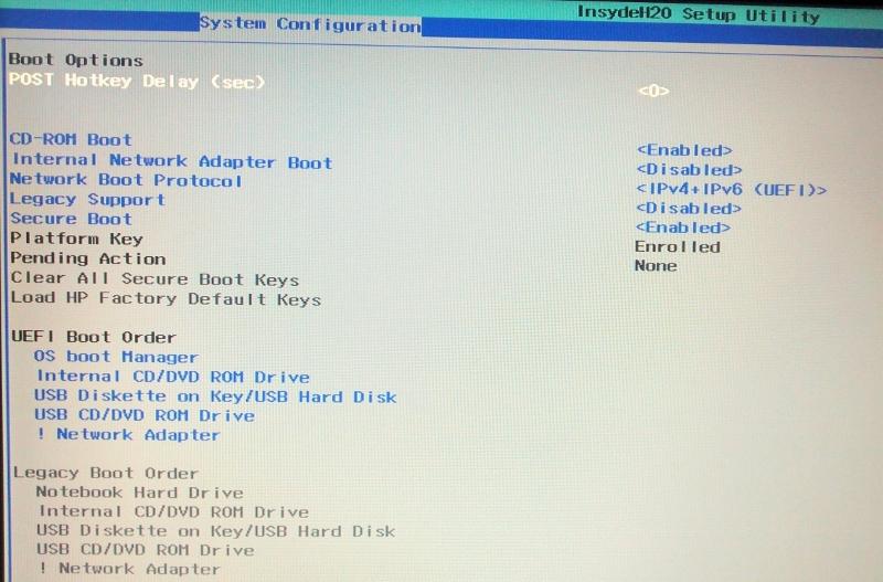 HP 2000-2b20CA UEFI Driver for PC