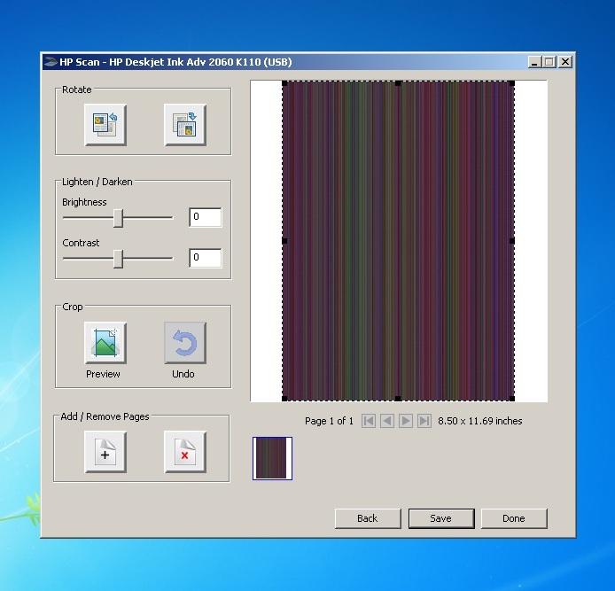 HP Deskjet Ink Advantage 2060 K110 garbage scan output - HP Support