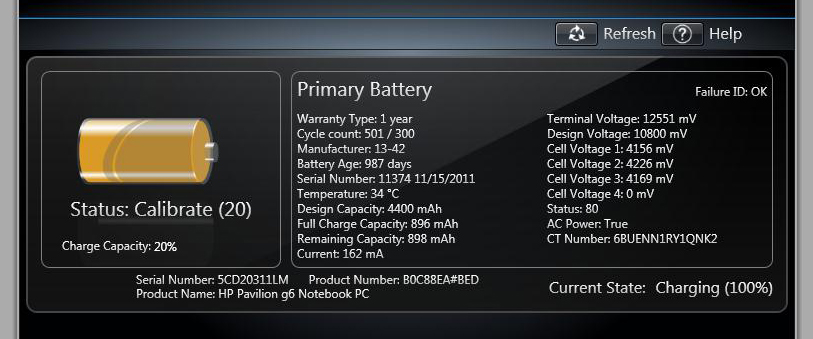 hp battery recall serial number