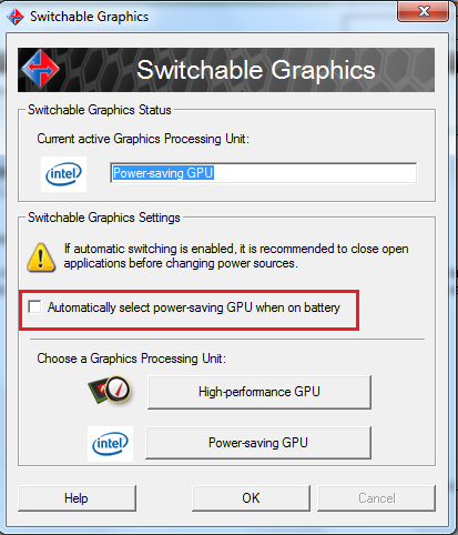 Solved: how to make my integrated video card the default one