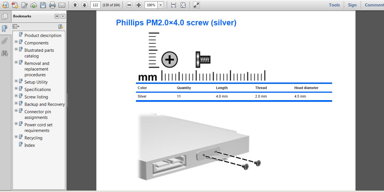 Laptop Screws for HP dv7-1175nr - HP Support Community - 4334514