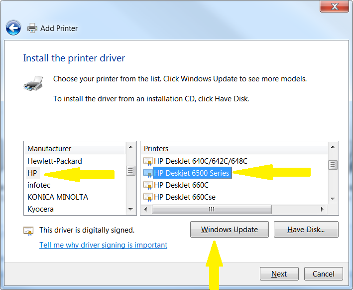 driver deskjet 640c windows 7