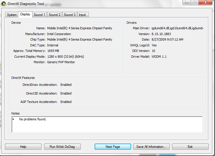 Support Of Opengl For Mobile Intel 4 Series Express Chipset