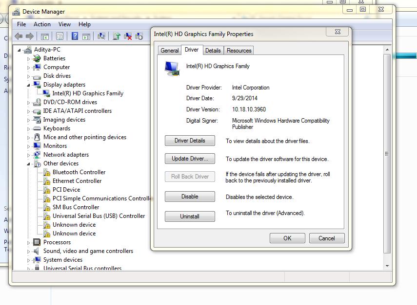 Drivers HP Pavilion dv6433cl window 7 64 bit - eehelp com