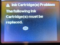 HP Envy 4500: Instant ink cartridge problem - eehelp com