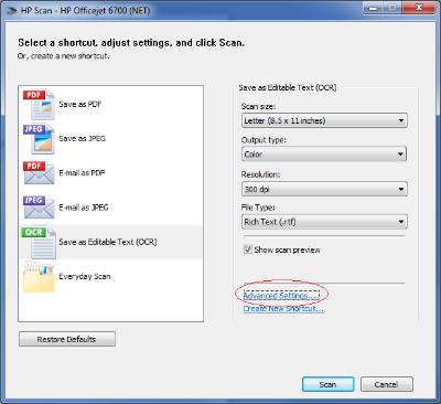 LaserJet M1319f scan to PDF is no longer an option in Windows 7 64