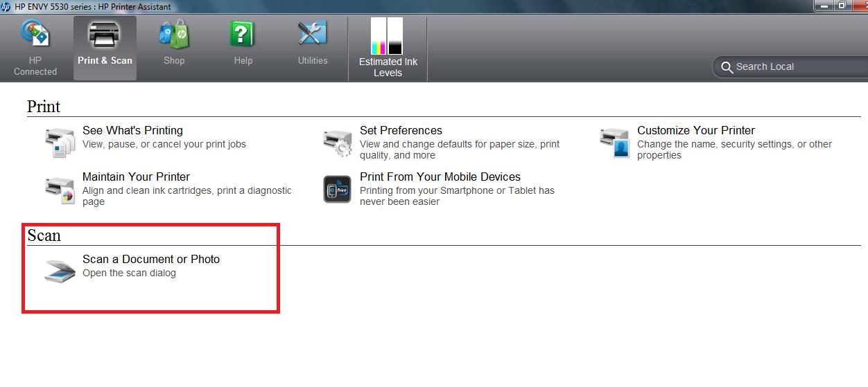 HP Envy 5530: Question of scanning - eehelp com