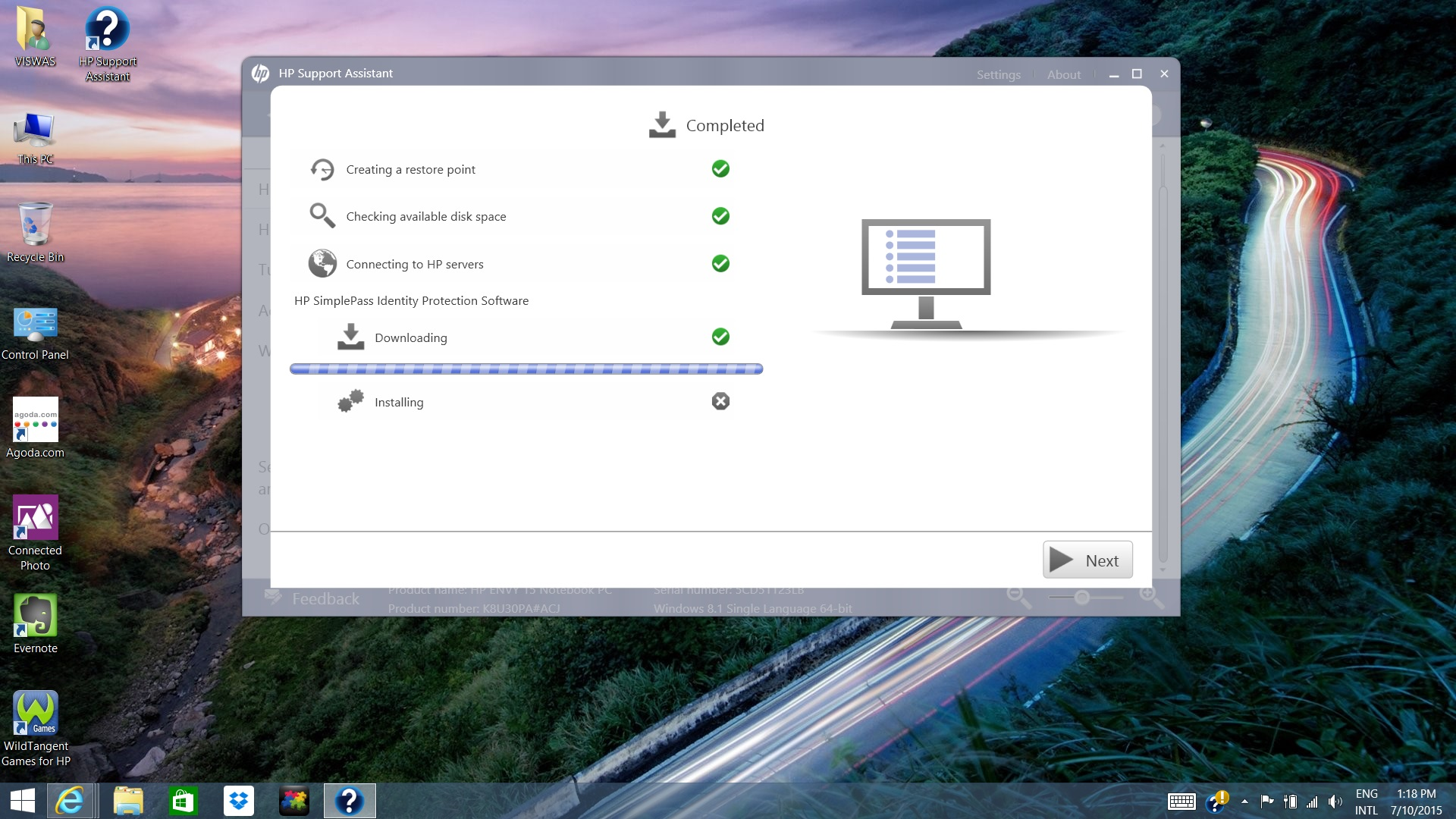 Hp simplepass identity protection