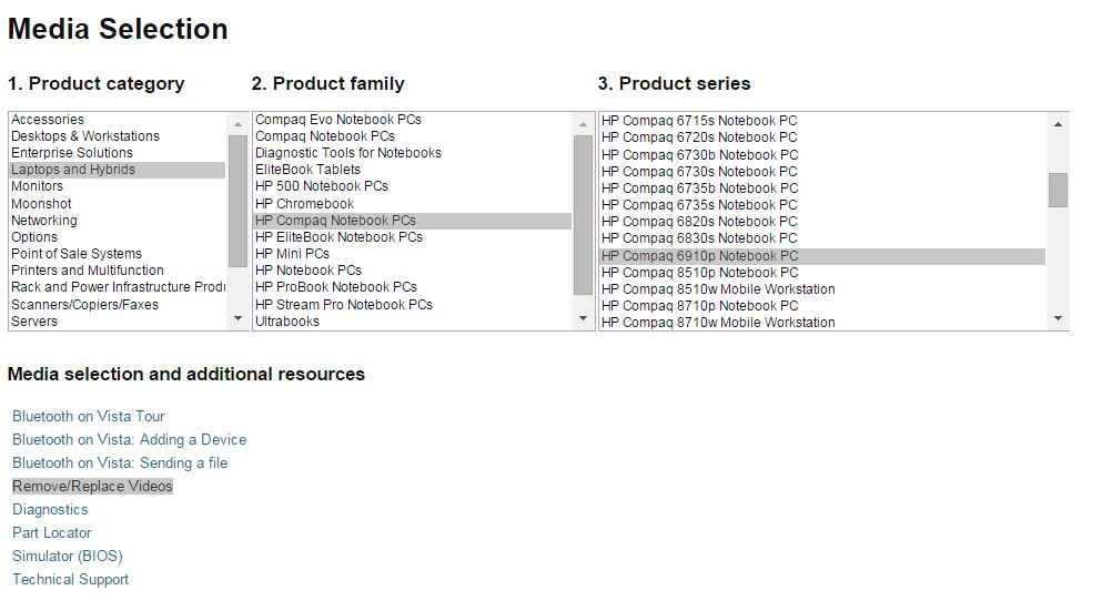 HP Compaq 6910p: lack of baseline windows 7 hp 6910p driver - eehelp com
