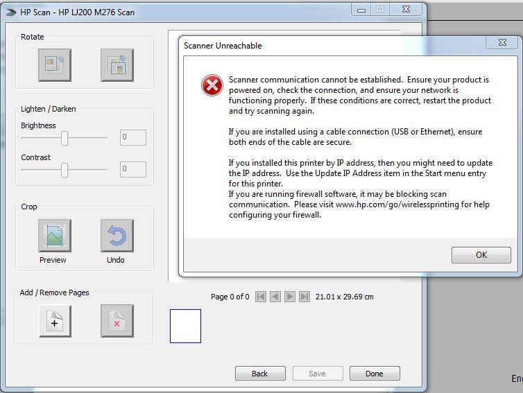 HP laserjet pro cm1415fnw don't scan error WIA  - eehelp com