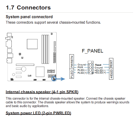 Hp Motherboard Front Panel Pinout