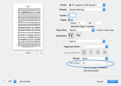 HP LaserJet 5100dtn: 5100dtn HP does not print duplex on Mac