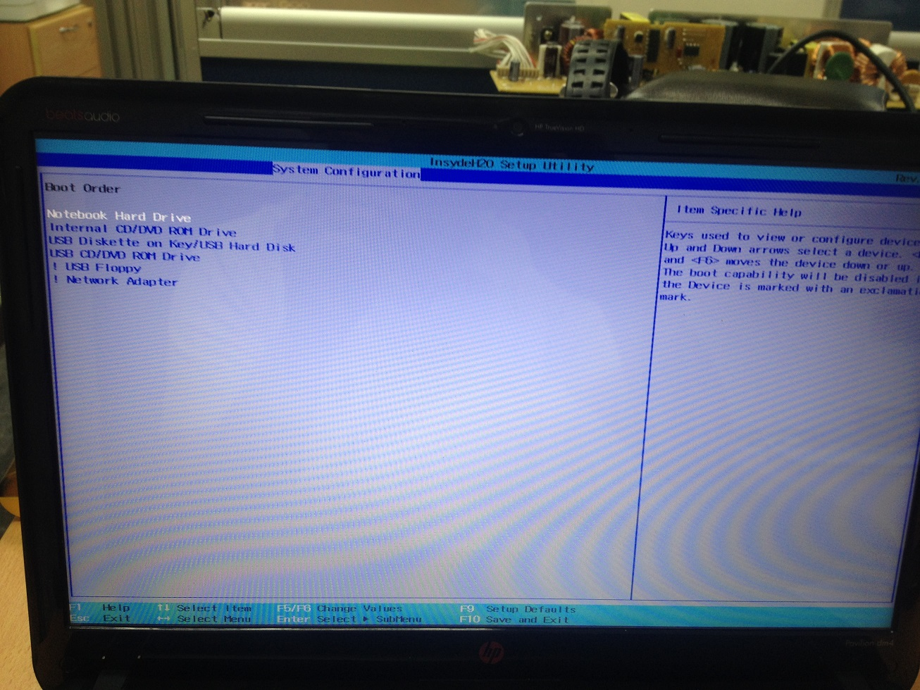 Pavilion Notebook M4Y35PA #UUF: cannot get into the Bios on HP