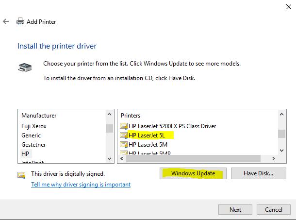 Драйвер для принтера hp 5l