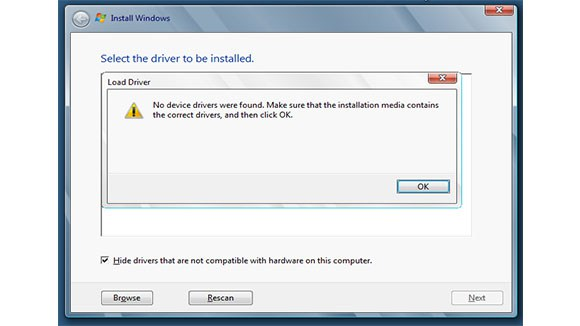 Creation of HP Z420 Workstation to USB recovery media - fails to see
