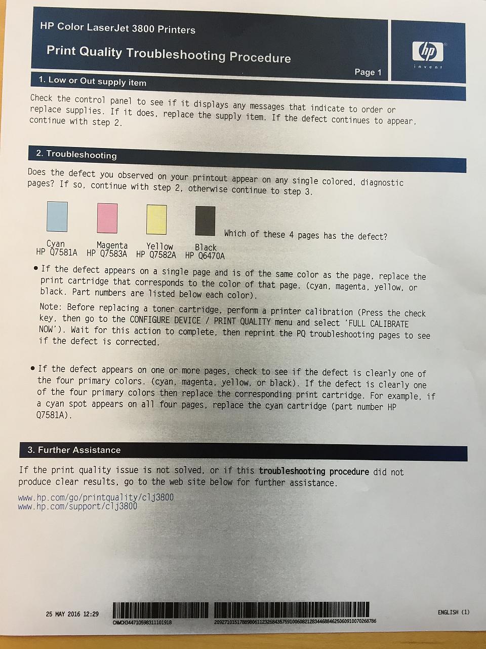 HP Laser Jet P2055dn: Black spots on paper - eehelp com