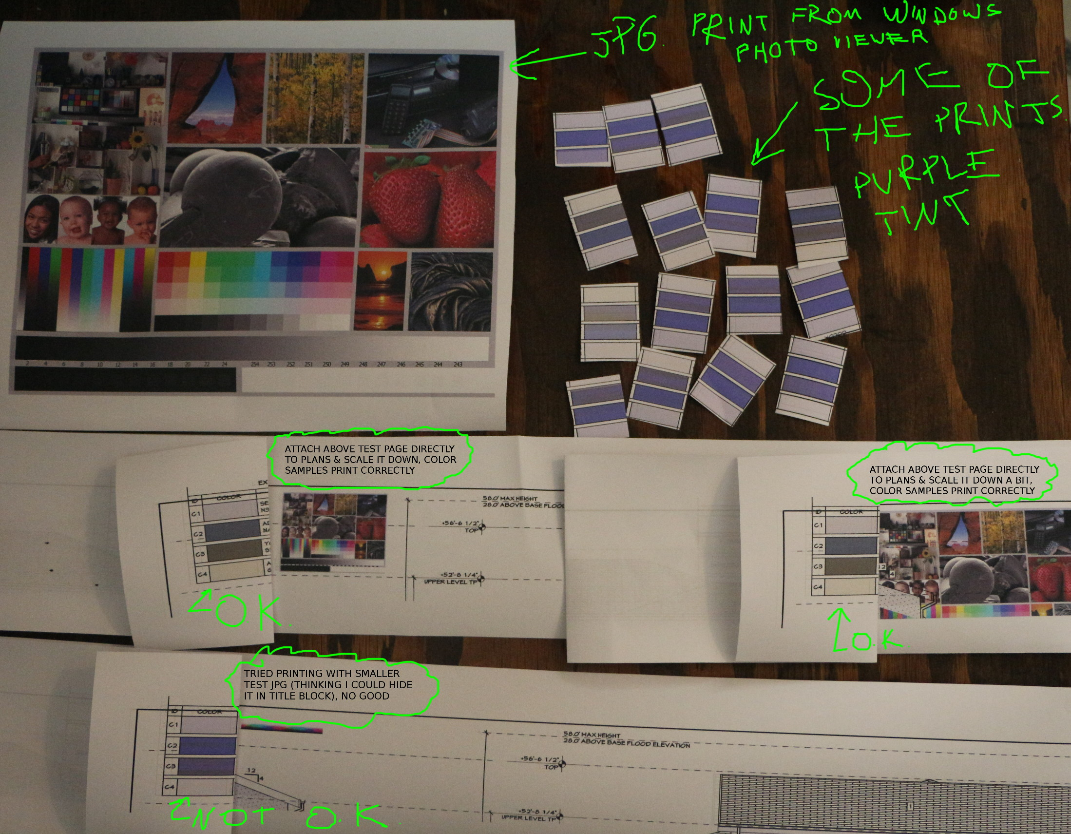 Hp Color Plotter Test Page Samples