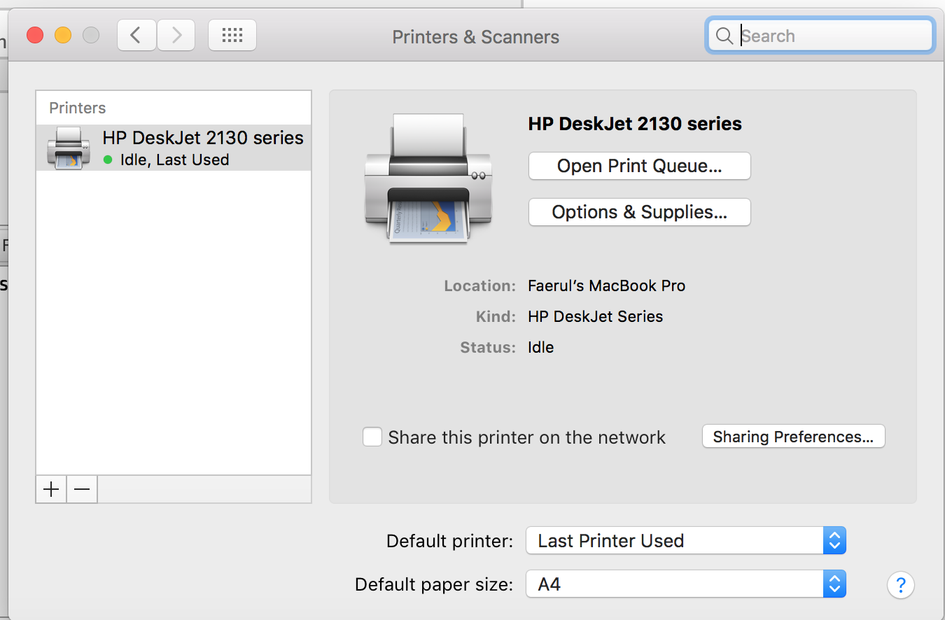 DeskJet Ink Advantage 2135: Print size - eehelp.com
