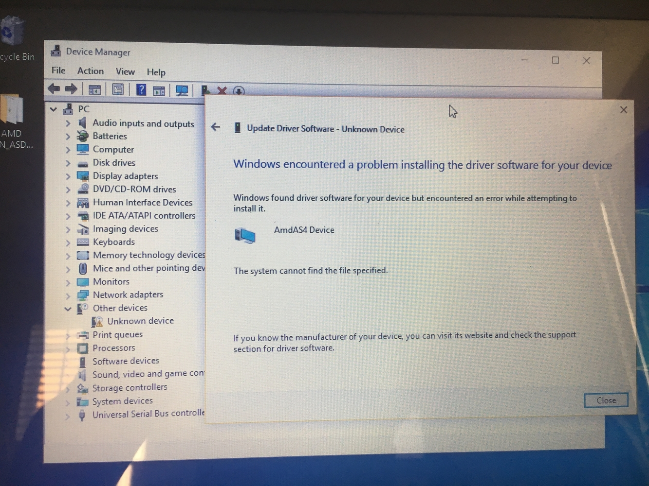 Acpi ven asd dev 0001 для windows 10