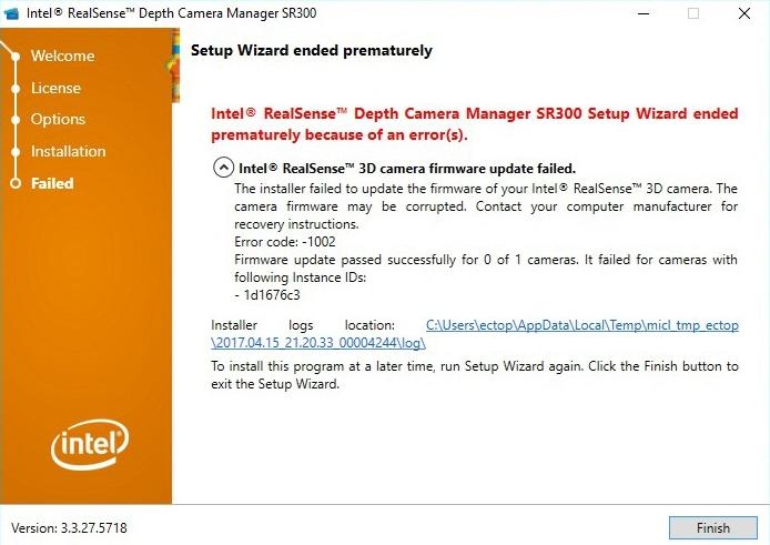 Intel realsense 3d camera hp webcam