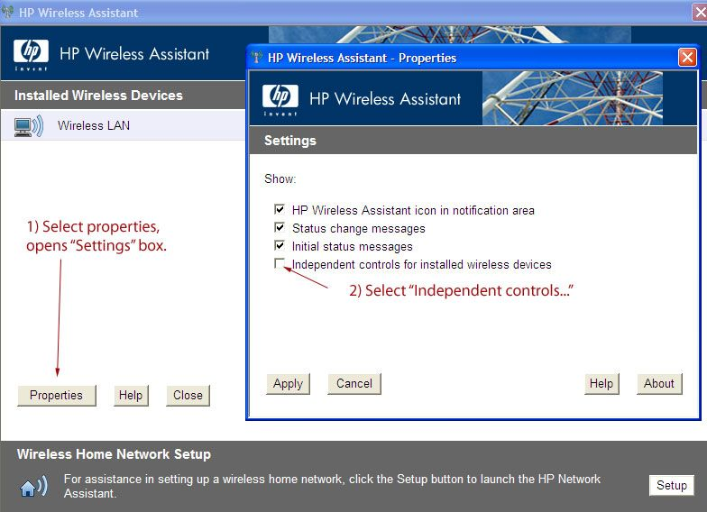 HP Laptop Wireless Assist1