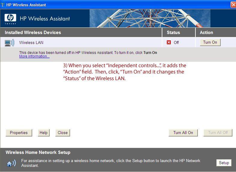 HP Laptop Wireless Assist2