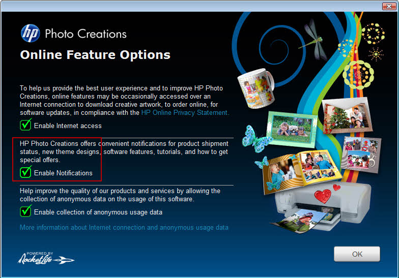Online Features Options