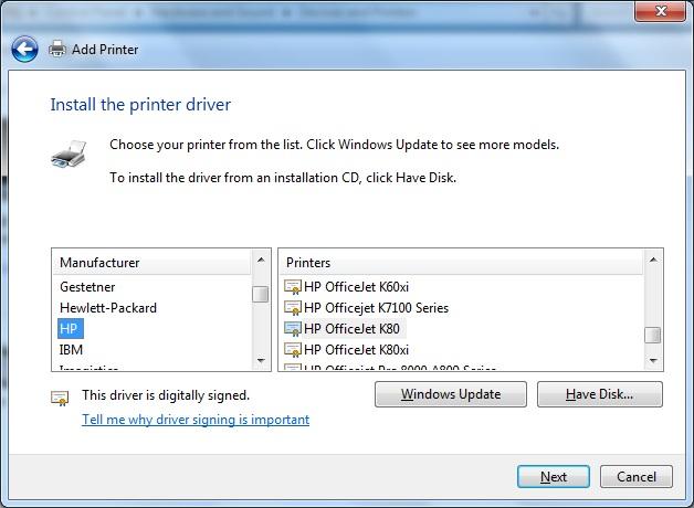 officejet k80 windows 7 driver