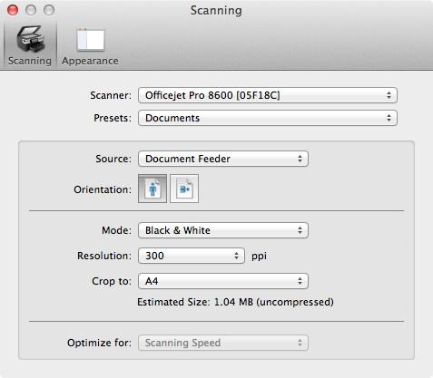 HP OfficeJet 8630: Duplex scan on HP OfficeJet Pro 8630