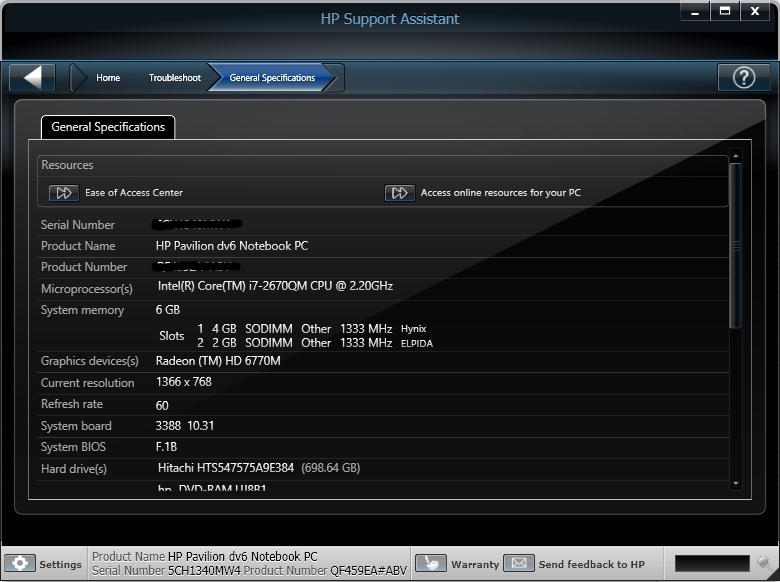 6180 HP dv6 BIOS update - eehelp com