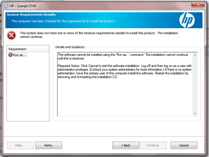 5550c ScanJet doesn't scan Windows 7 - eehelp com