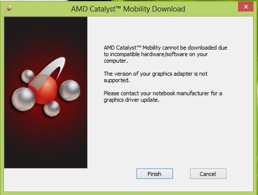 Windows 8 Does Not Support My Amd Graphic Eehelp Com