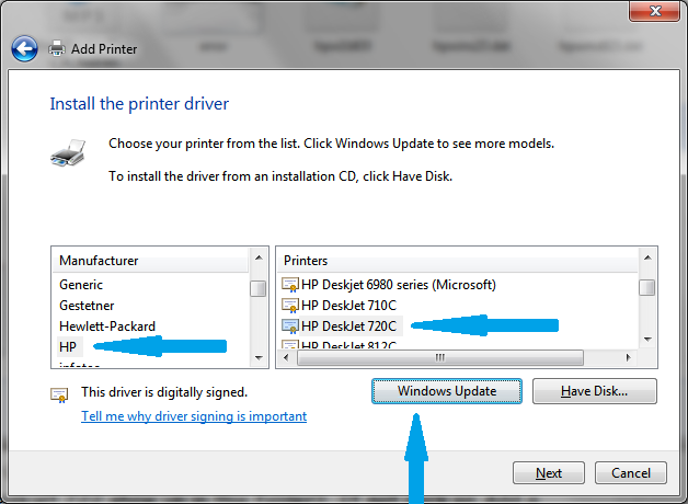 Hp 720c driver for windows 7.