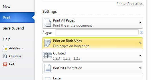 Flip Over Duplex Printing Always Prints As Flip Up Hp