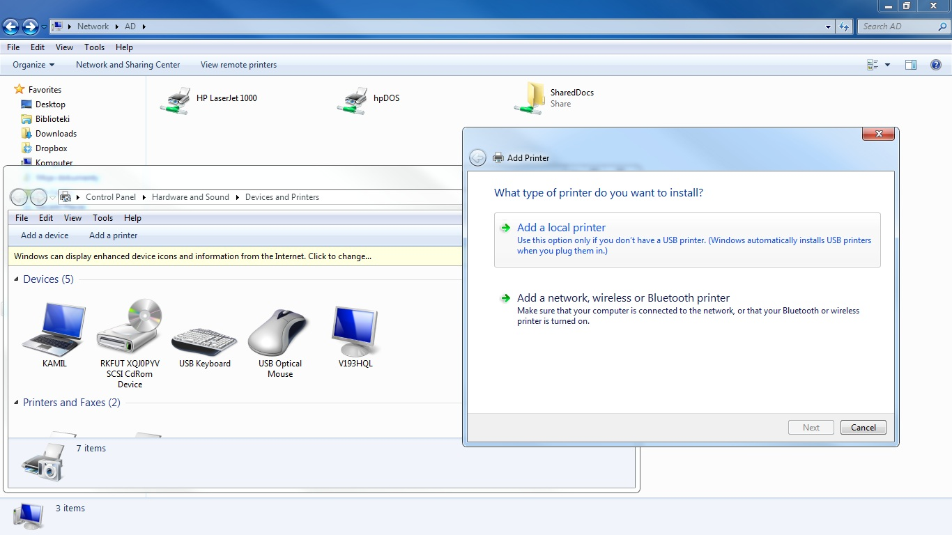 How to install driver for hp laserjet 1000 on windows 7.