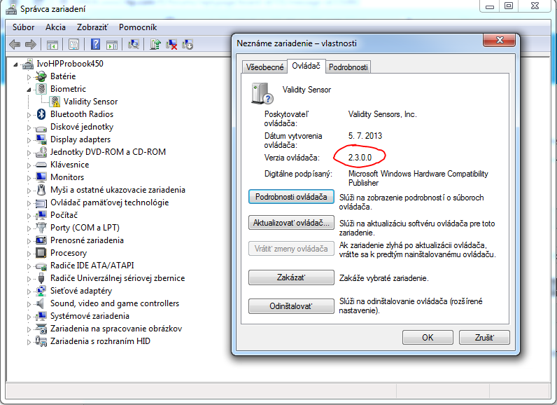 Hp Fingerprint driver windows 7
