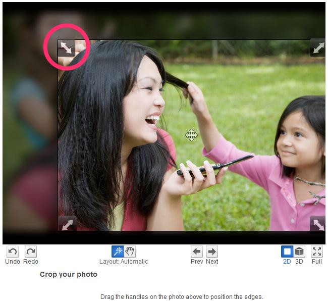 HP Photo Creations Crop Photo