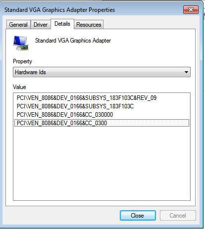 standard vga graphics adapter driver windows xp free download