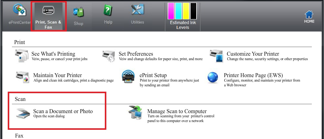 Scanning HP & Capture has a software IP different than the printer