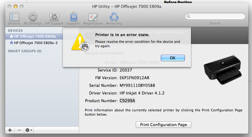 Image result for printer in error state HP