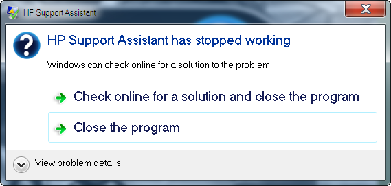 cannot uninstall hp support assistant - eehelp com