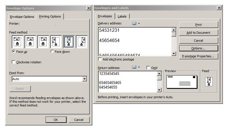 DeskJet 2540 will not print envelope - eehelp com