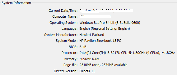 HP Pavilion Notebook (laptop) plugged, G6 does not support